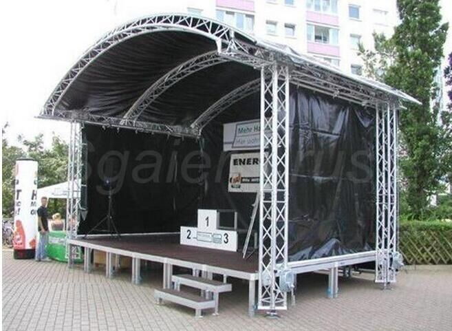 Customer Design  4 Pillars True Project Stage Lighting Truss 6x6 x 6 M Fixed Height Roofing with High Loading