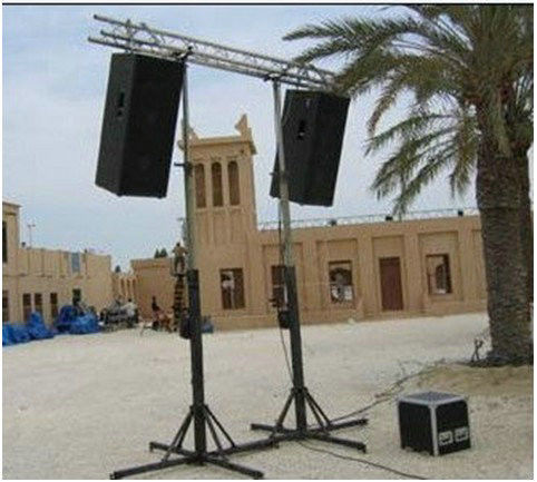 Black Color  Adjustable 2M To 6M Theatrical Light Truss Stands / Concert Truss System For Party Truss
