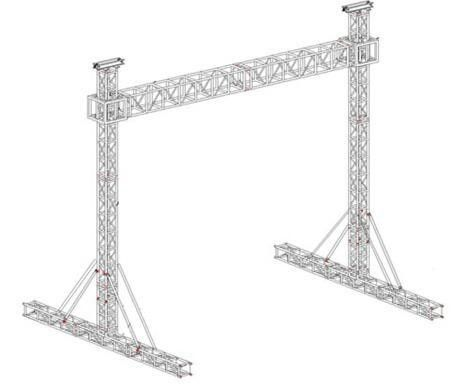Hang Speaker Aluminum Square Truss / Silver Aluminum Stage Truss 0.5M-4M