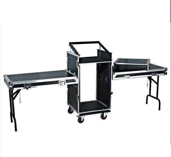14U Amplifier Rack Flight Case With Stand Table