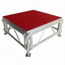 Trung Quốc Portable Waterproof Acrylic / Plywood Temporary Stage Platforms Heavy Loading Adjustable Height nhà máy sản xuất